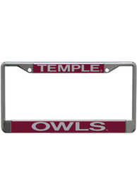 Temple Owls Silver Chrome License Frame
