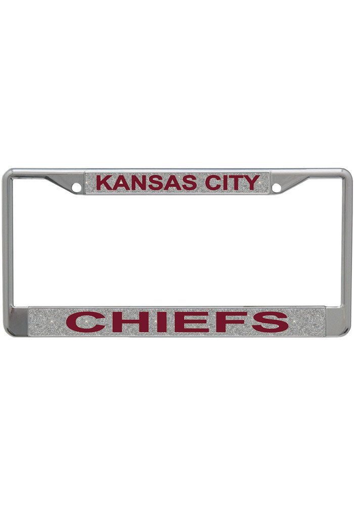 Kansas City Chiefs Silver Chrome License Frame - Image 1
