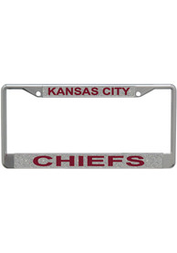 Kansas City Chiefs Silver Chrome License Frame