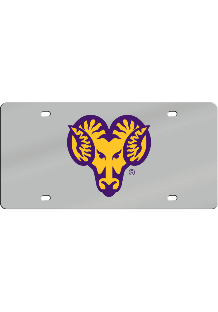 West Chester Golden Rams Acrylic Logo Car Accessory License Plate - Image 1