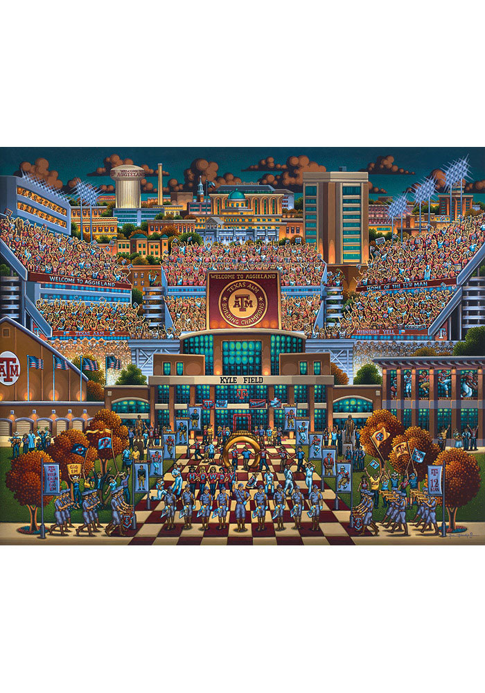 Texas A&M Aggies 500pc Kyle Field Puzzle - Image 1
