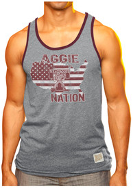 Original Retro Brand Texas A&M Aggies Mens Grey Aggie Nation Tank Top
