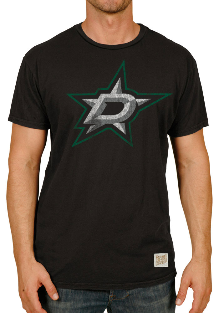 Original Retro Brand Dallas Stars Black Primary Logo Fashion Tee