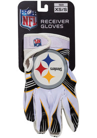 Pittsburgh Steelers Youth Receiver Gloves - White