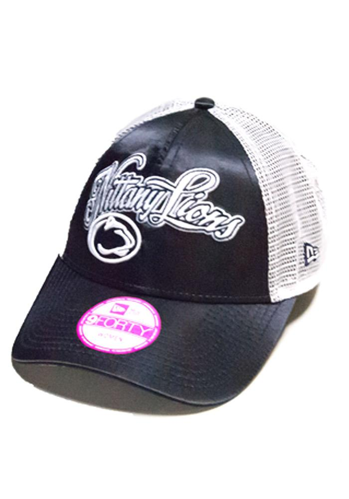 New Era Penn State Nittany Lions Navy Blue Satin Trucker Womens Adjustable Hat - Image 1