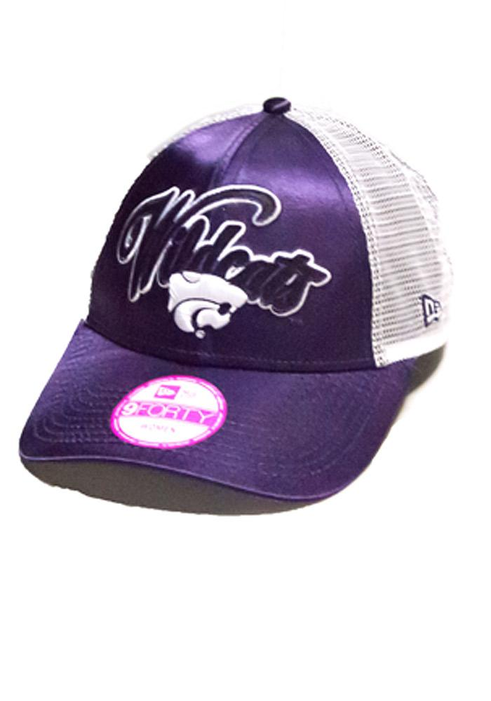 ... where to buy new era k state wildcats womens purple satin trucker  adjustable hat 22ba1 14278 2f8d2fd1f77b