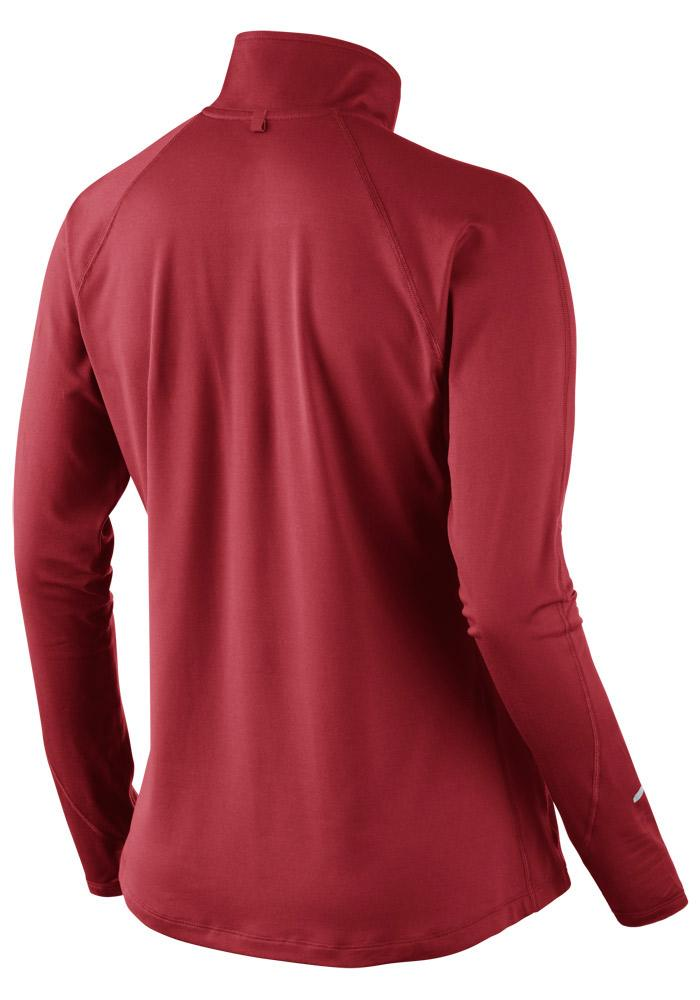 Nike Boston Womens Red Dri-Fit Element 1/4 Zip Pullover - Image 3