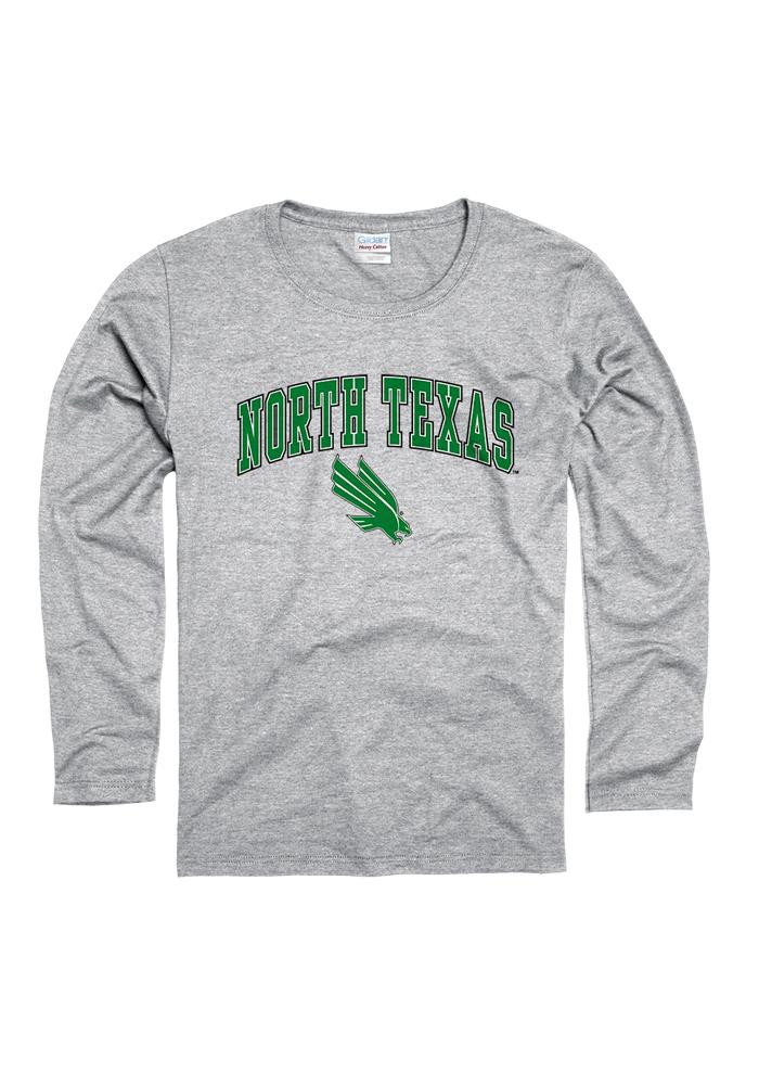 North Texas Mean Green Womens Grey Midsize Spirit Long Sleeve Women's Crew - Image 1
