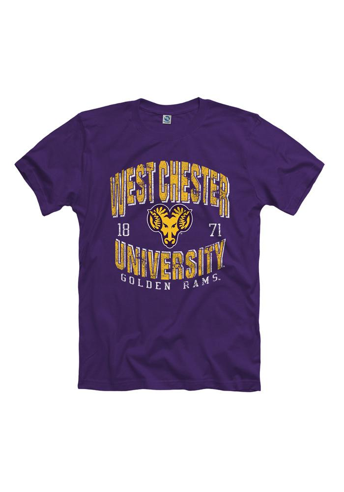 West Chester Golden Rams Mens Purple Potential Short Sleeve T Shirt, Purple, 55% COTTON / 45% POLYESTER, Size S