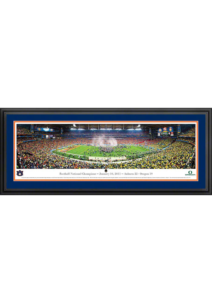 Auburn Tigers BCS 2011 Panorama Deluxe Framed Posters - Image 1