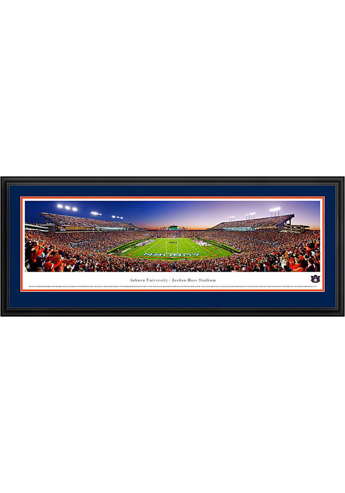 Auburn Tigers End Zone Panorama Deluxe Framed Posters - Image 1