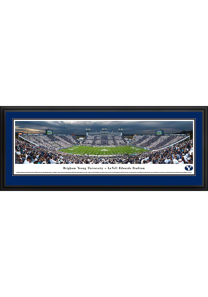 BYU Cougars Football Panorama Deluxe Framed Posters - Image 1