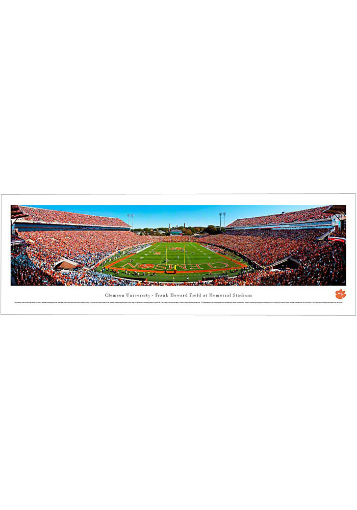 Clemson Tigers End Zone Panorama Unframed Poster - Image 1
