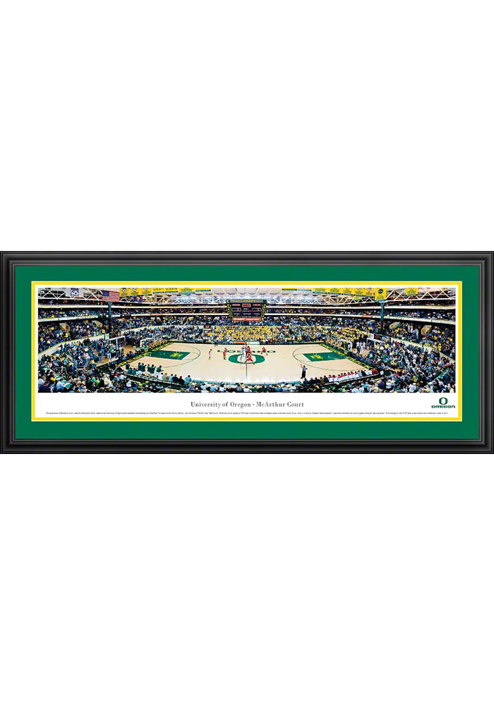 Oregon Ducks Basketball 1 Panorama Deluxe Framed Posters - Image 1