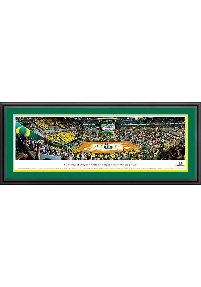 Oregon Ducks Basketball 2 Panorama Deluxe Framed Posters - Image 1
