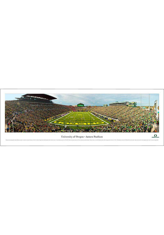 Oregon Ducks End Zone Panorama Unframed Poster - Image 1