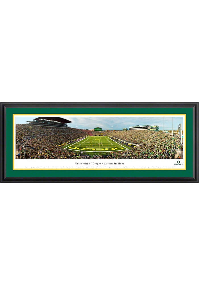 Oregon Ducks End Zone Panorama Deluxe Framed Posters - Image 1