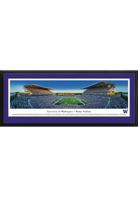 Washington Huskies End Zone Panoramic Deluxe Framed Posters