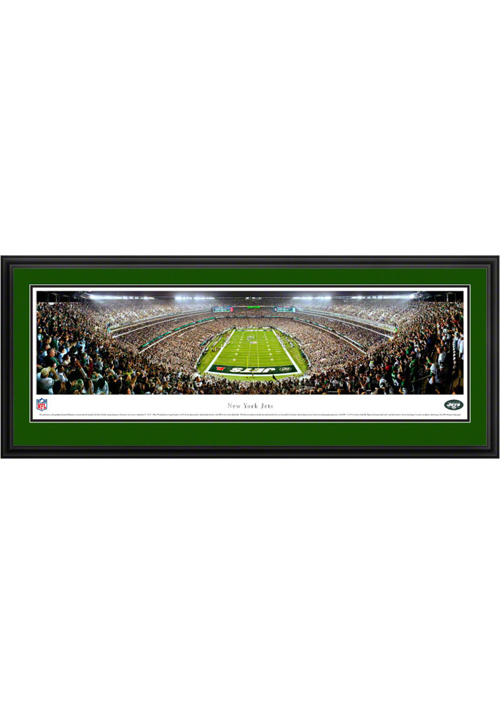 New York Jets End Zone Panorama Deluxe Framed Posters - Image 1
