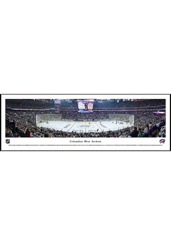 Columbus Blue Jackets Panorama Framed Posters - Image 1