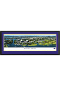 Washington Huskies Aerial Panorama Deluxe Framed Posters