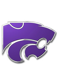 Sports Licensing Solutions K-State Wildcats Aluminum Color Car Emblem - Purple