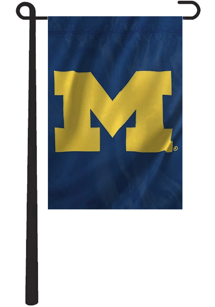 Michigan Wolverines 10.5x15 Blue Garden Flag - Image 1