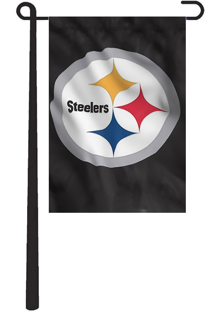 Pittsburgh Steelers 10.5x15 Black Garden Flag - Image 1