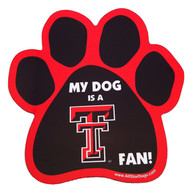 Texas Tech Red Raiders Paw Pet Magnet
