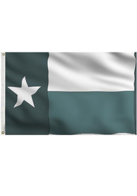 North Texas Mean Green 3x5 State of Texas Grommet Applique Flag
