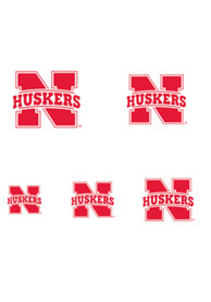 Nebraska Cornhuskers Fingernail Tattoo