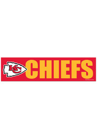 Kansas City Chiefs 3x12 Red Bumper Sticker - Red