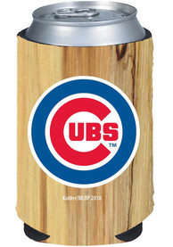 Chicago Cubs Wood Grain Can Coolie