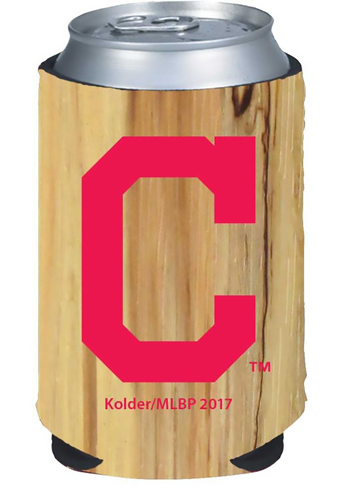 Cleveland Indians Wood Grain Can Koozie - Image 1