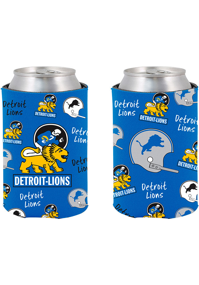 Detroit Lions 2-Sided Flashback Can Coolie - Image 1
