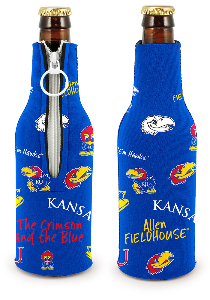 Kansas Jayhawks 2-Sided Flashback Bottle Coolie