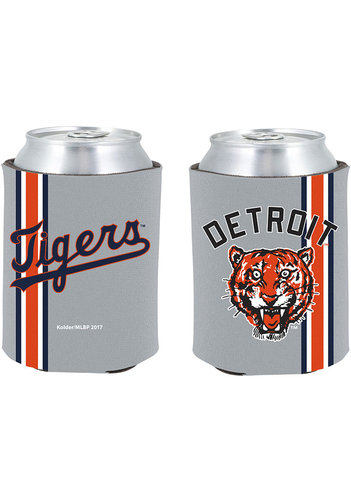 Detroit Tigers 2-Sided Throwback Can Koozie - Image 1