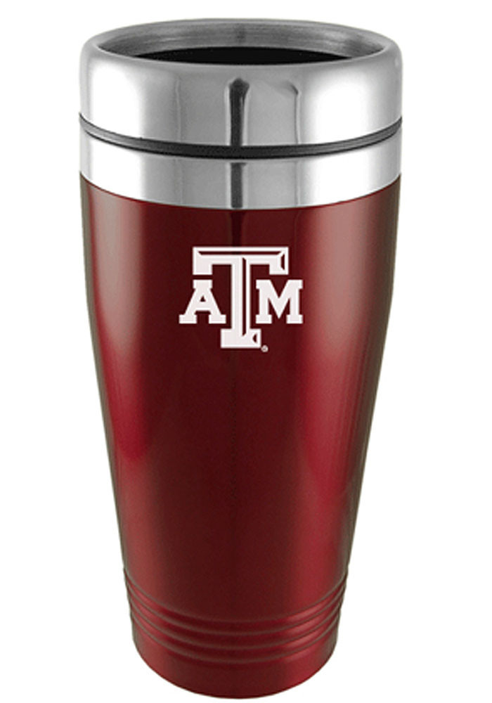 Texas A&M Aggies 16oz Stainless Steel Maroon Travel Mug - Image 1