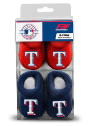 Texas Rangers Baby 2pk Knit Bootie Boxed Set - Navy Blue