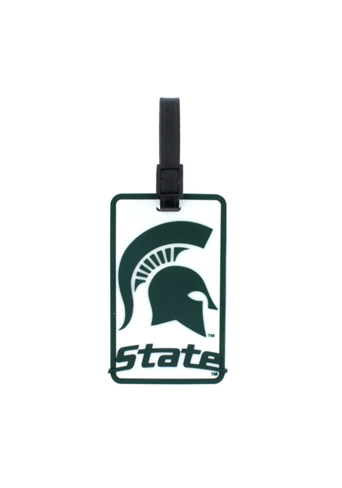Michigan State Spartans Rubber Luggage Tag - White