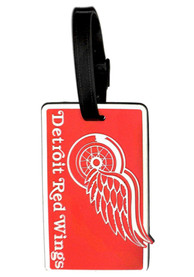 Detroit Red Wings Rubber Luggage Tag - Red
