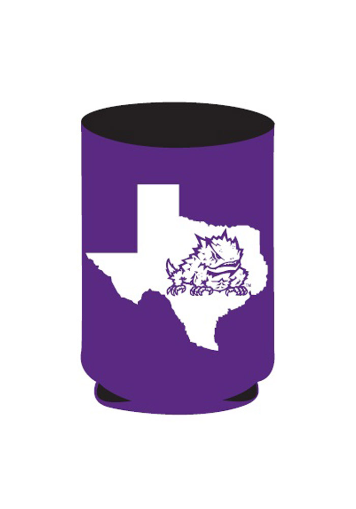 TCU Horned Frogs State Koozie - Image 1