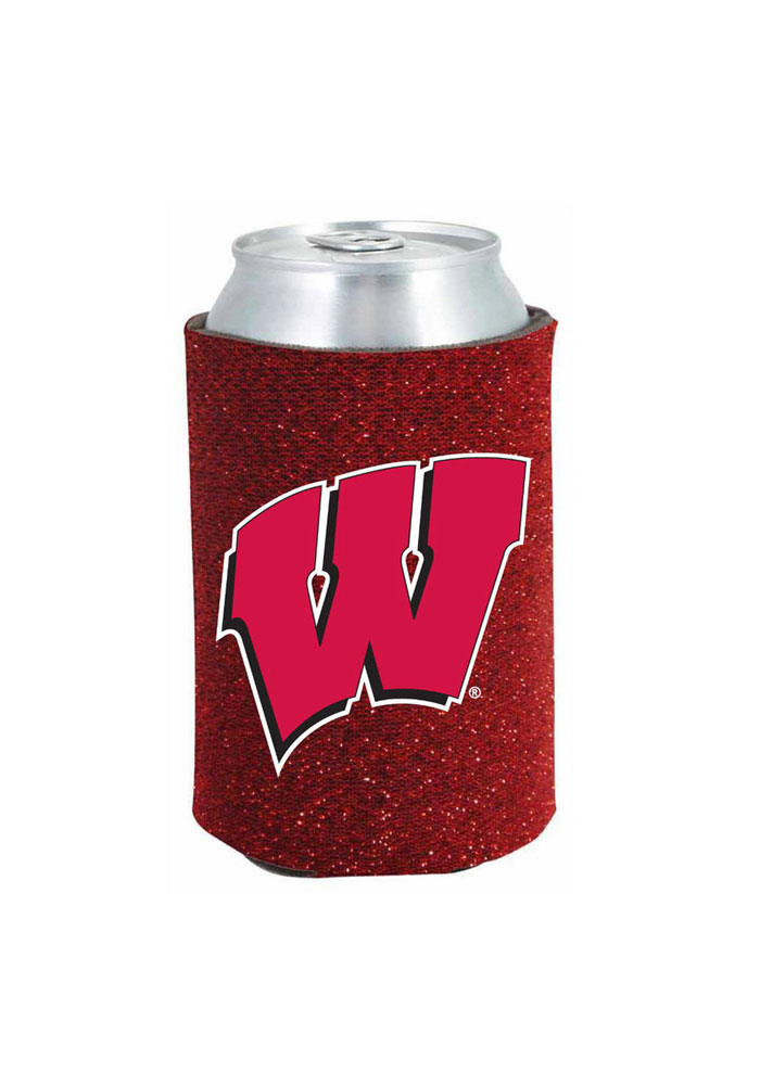 Wisconsin Badgers Glitter Can Koozie - Image 1