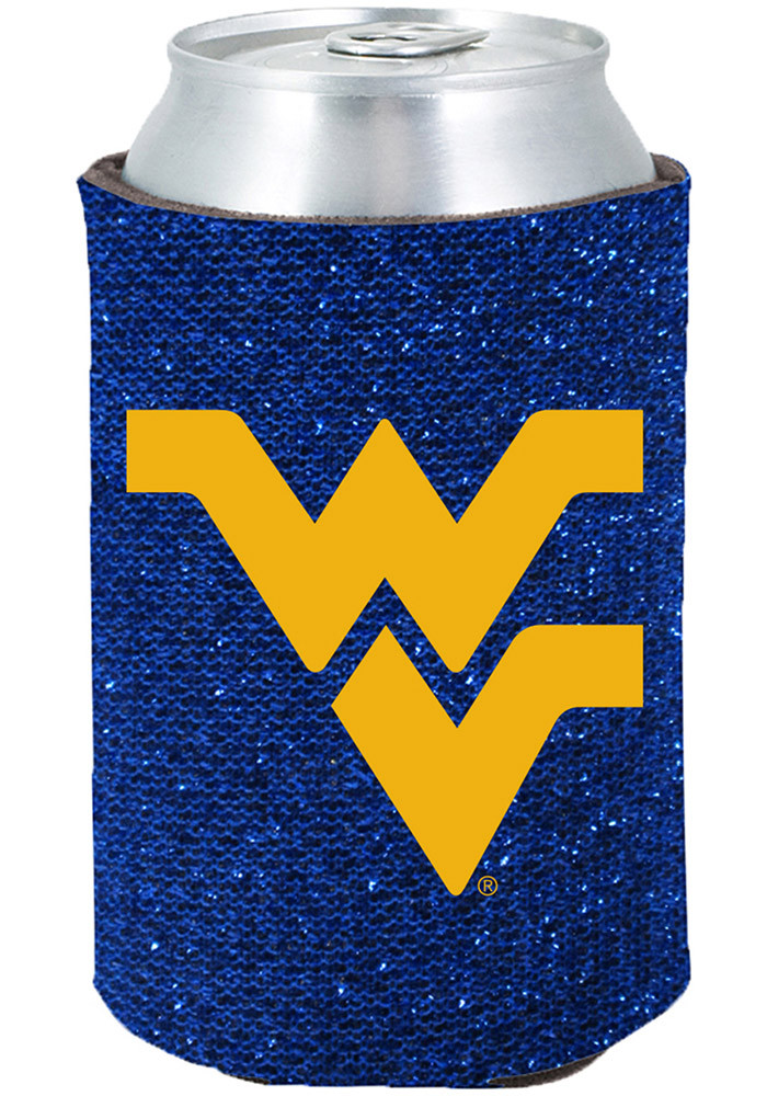 West Virginia Mountaineers Glitter Can Koozie - Image 1
