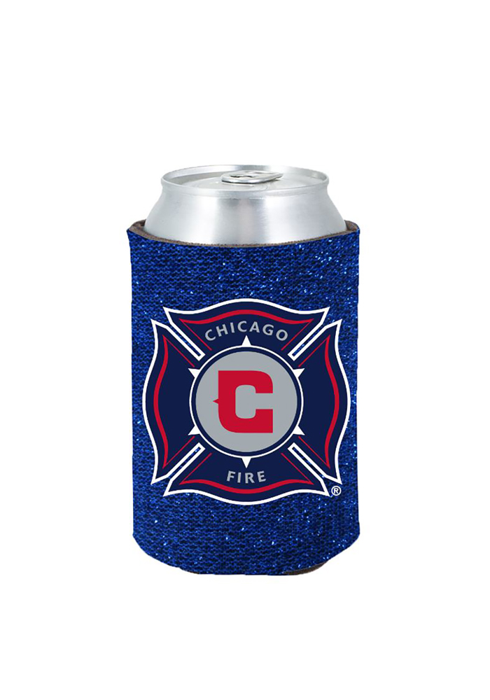 Chicago Fire Glitter Can Koozie - Image 1