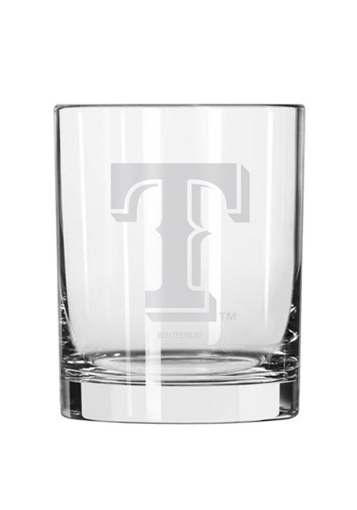 Texas Rangers Frosted Logo Rock Glass - Image 1