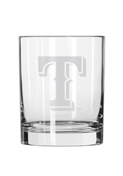 Texas Rangers Frosted Logo Rock Glass