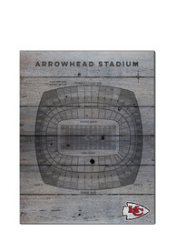 Kansas City Chiefs 16x20 Seating Chart Sign