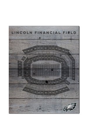 Philadelphia Eagles 16x20 Seating Chart Sign