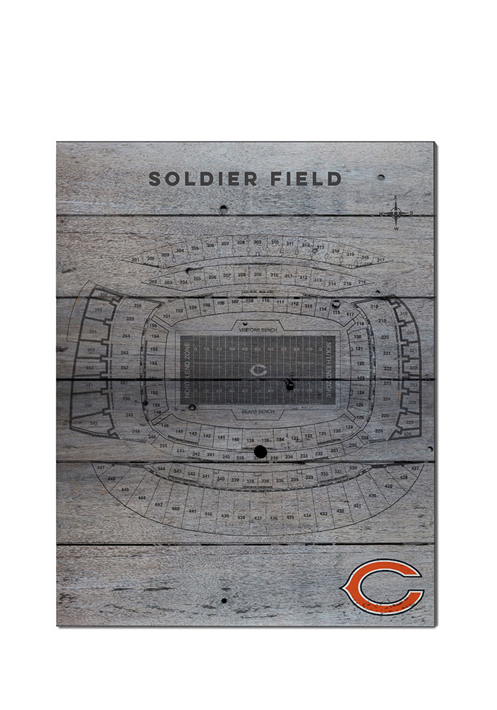 Chicago Bears 16x20 Seating Chart Sign - Image 1